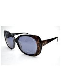 schwarze Sonnenbrille mit Leopardenmuster