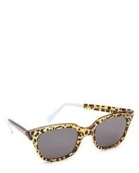 schwarze Sonnenbrille mit Leopardenmuster von Cat Eye