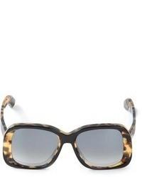 schwarze Sonnenbrille mit Leopardenmuster von Sportmax