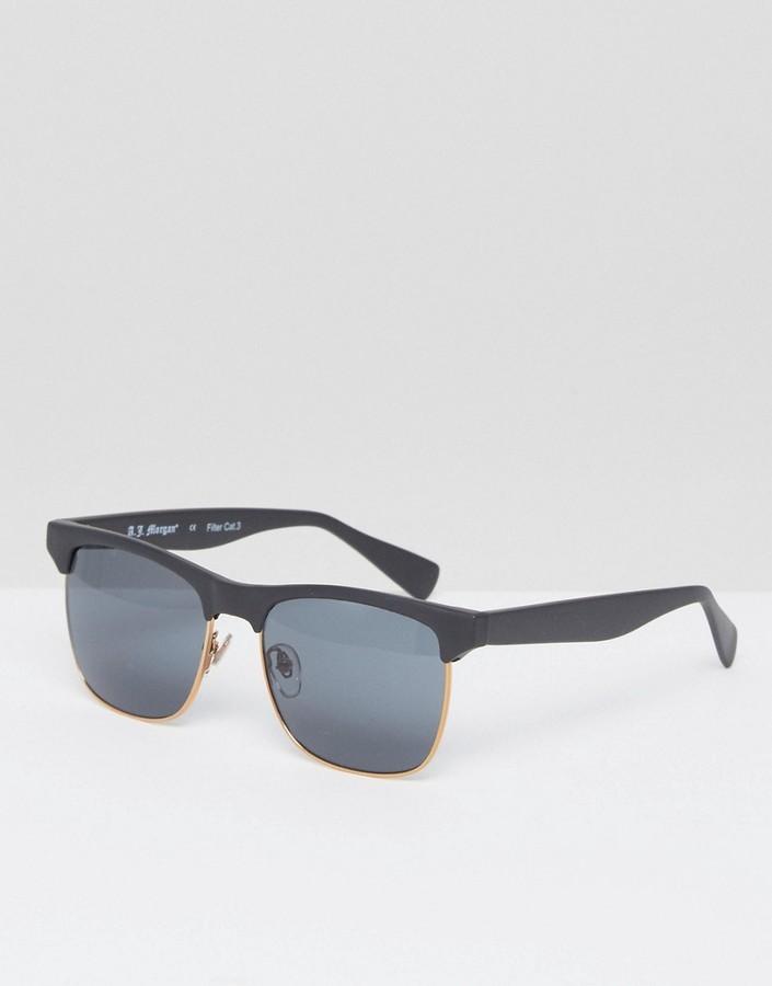 schwarze Sonnenbrille von A. J. Morgan