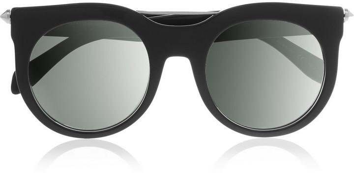 schwarze Sonnenbrille von Alexander McQueen