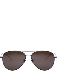 schwarze Sonnenbrille von Ann Demeulemeester