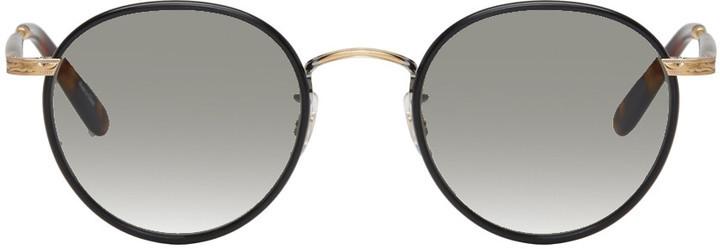 schwarze Sonnenbrille von Garrett Leight