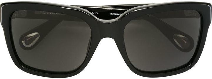 schwarze Sonnenbrille von Linda Farrow