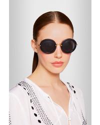 schwarze Sonnenbrille von Miu Miu