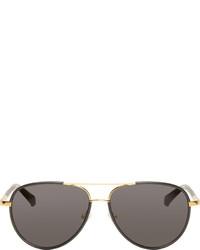 schwarze Sonnenbrille von The Row