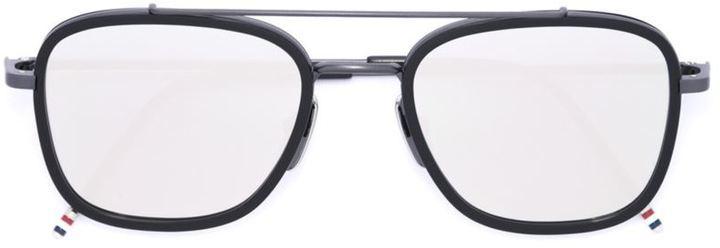 schwarze Sonnenbrille von Thom Browne