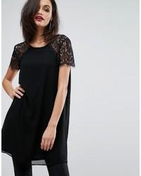 schwarze Spitze Bluse von Lipsy