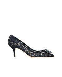 schwarze Spitze Pumps von Dolce & Gabbana