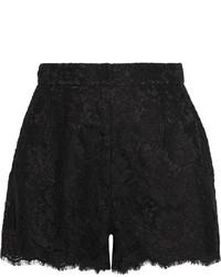 schwarze Spitzeshorts von Dolce & Gabbana