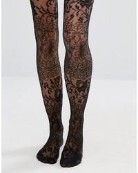 schwarze Spitzestrumpfhose von Asos