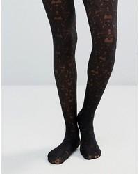 schwarze Spitzestrumpfhose von Jonathan Aston