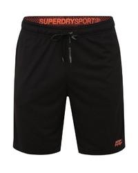 schwarze Sportshorts von Superdry