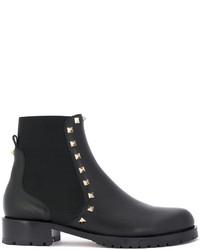 schwarze Stiefel von Valentino