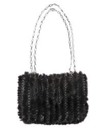 schwarze Strick Handtasche