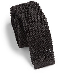 schwarze Strick Krawatte