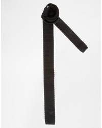 schwarze Strick Krawatte von Asos