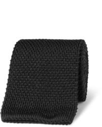 schwarze Strick Krawatte von Brioni