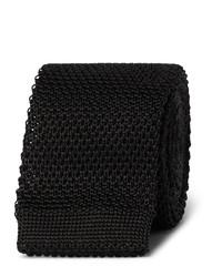 schwarze Strick Krawatte von Burberry