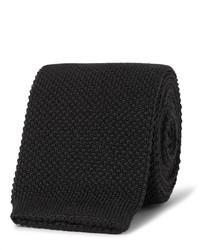 schwarze Strick Krawatte von Paul Smith