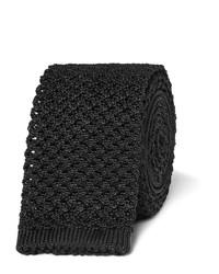 schwarze Strick Krawatte von Tom Ford