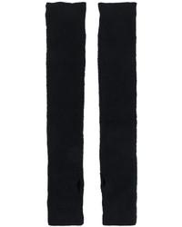 schwarze Strick lange Handschuhe von MM6 MAISON MARGIELA