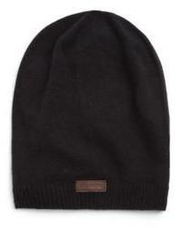 schwarze Strick Mütze