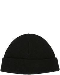 schwarze Strick Mütze von AMI Alexandre Mattiussi