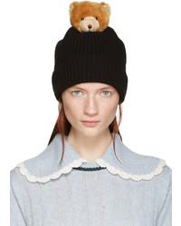 schwarze Strick Mütze von Dolce & Gabbana