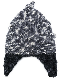 schwarze Strick Mütze von Etro