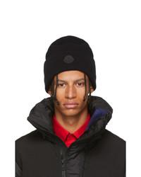schwarze Strick Mütze von Moncler