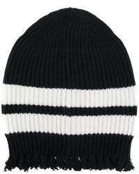 schwarze Strick Mütze von MSGM