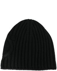 schwarze Strick Mütze von Salvatore Ferragamo