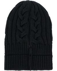 schwarze Strick Mütze von Versace