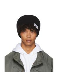 schwarze Strick Mütze von VISVIM