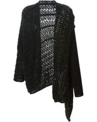 schwarze Strick Strickjacke mit einer offenen Front von Masnada