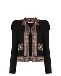 schwarze Strick Strickjacke mit einer offenen Front von Cecilia Prado