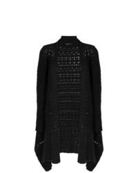 schwarze Strick Strickjacke mit einer offenen Front von Uma Raquel Davidowicz