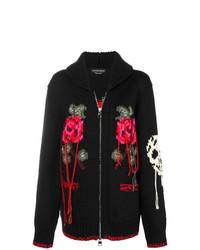 schwarze Strick Strickjacke von Alexander McQueen
