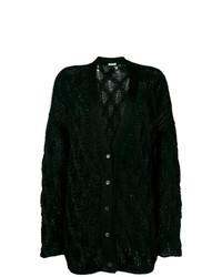 schwarze Strick Strickjacke von Miu Miu
