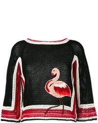 schwarze Strick Wollbluse von RED Valentino