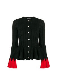 schwarze Strickjacke von Alexander McQueen