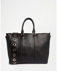 schwarze Taschen mit Leopardenmuster von Asos