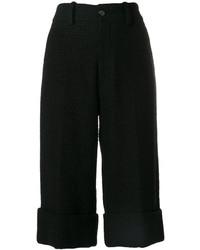 schwarze Tweed Bermuda-Shorts von Gucci