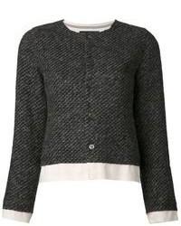 schwarze Tweed-Jacke von Comme des Garcons