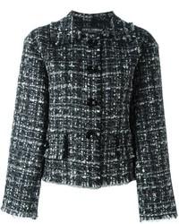 schwarze Tweed-Jacke von Dolce & Gabbana