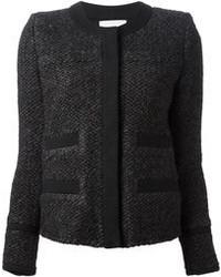 schwarze Tweed-Jacke von IRO