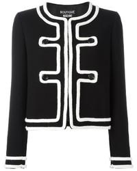 schwarze Tweed-Jacke von Moschino