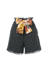schwarze Tweed Shorts von MSGM