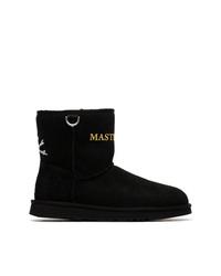 schwarze Ugg Stiefel von Mastermind Japan